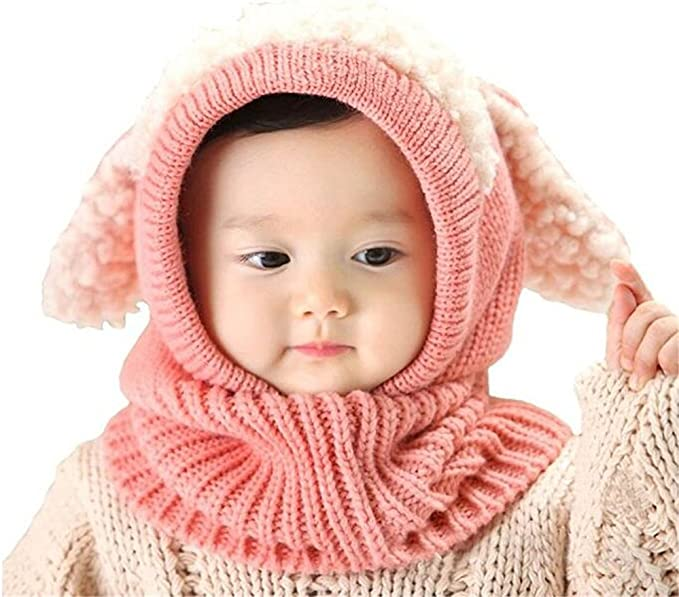 Wintermütze Kinder Mütze Fleece Lapplandmütze Ohrenklappen Herzen Mädchen