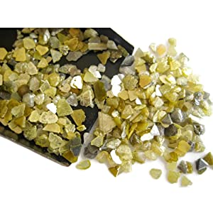 10 CTW, Yellow Diamond Slices, Raw Rough Diamond Chips, Raw Uncut Diamond Chips, 2-5mm Approx