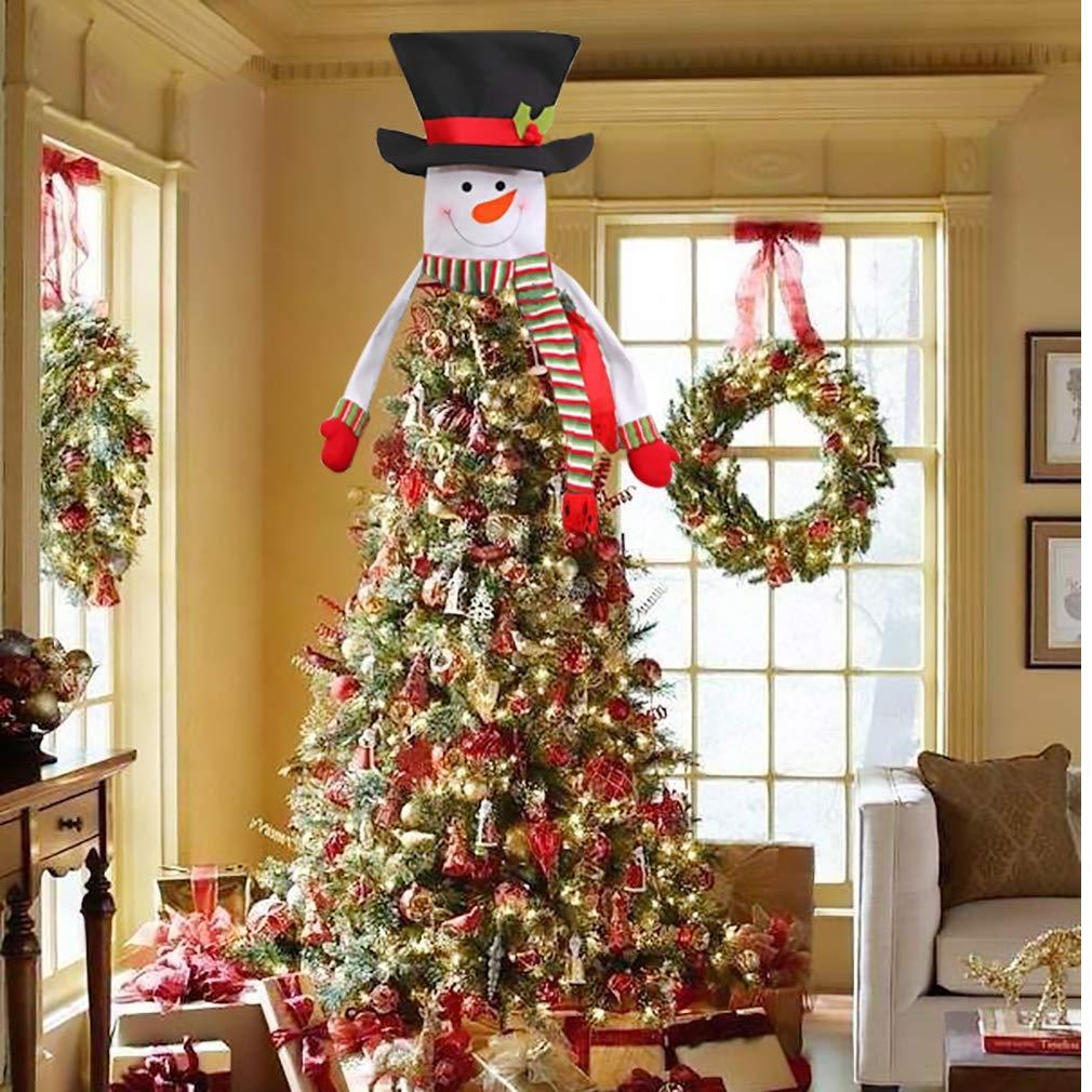 Snowman Top Hat Large Tree Hugger Fits Christmas Tree Decorations Xmas Ornaments LOVEIFE Christmas Tree Topper Snowman Decorations Holiday Winter Wonderland Decoration