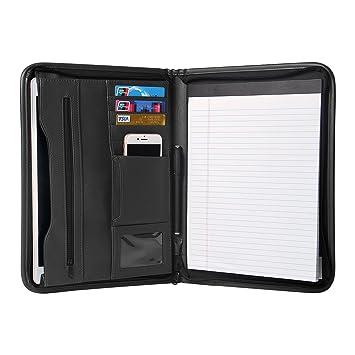 amazon com tyson padfolio portfolio leather zippered writing pad