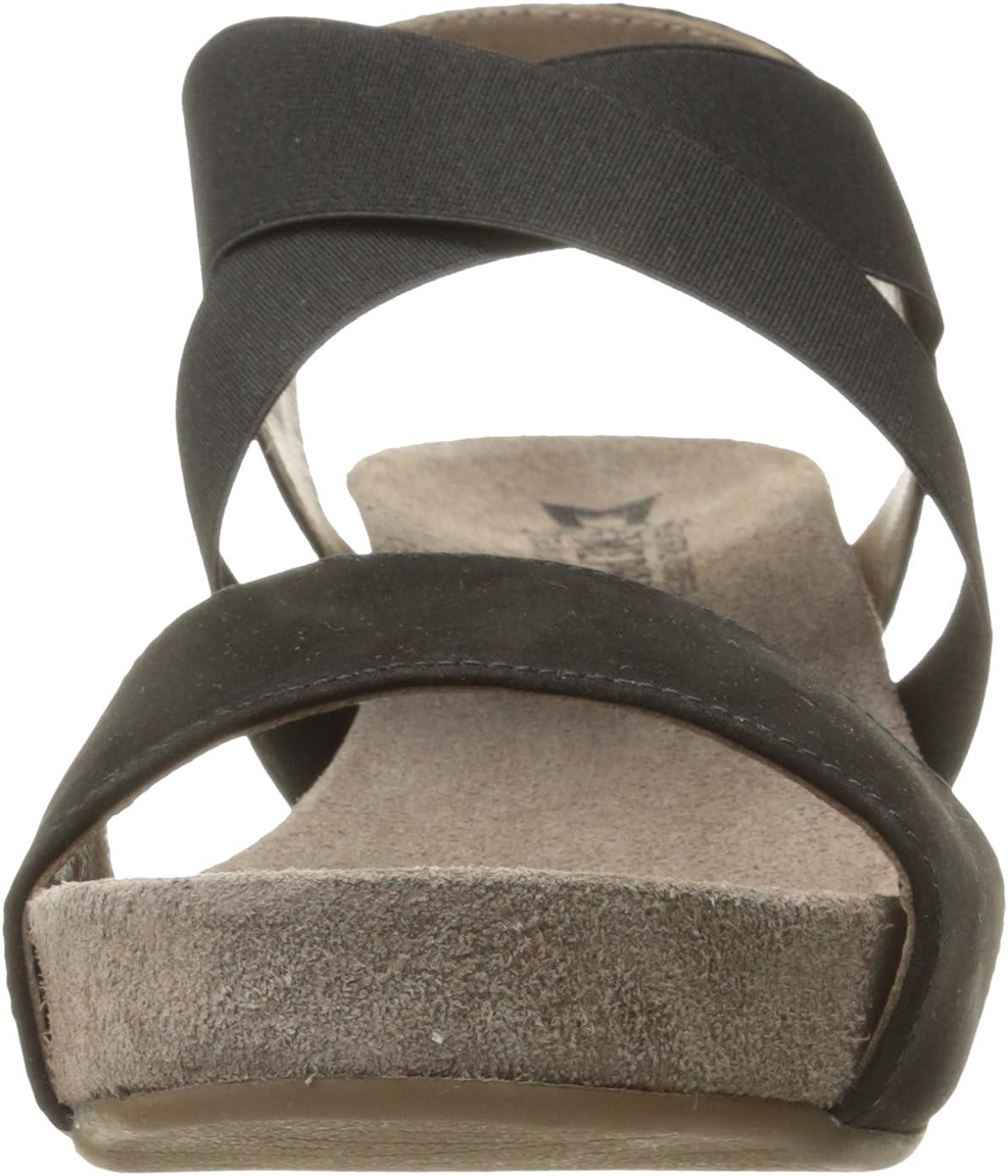Mephisto Womens Barbara Elasticated Sandals Nero