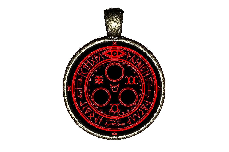 Satanic necklace handmade Satanic cross Lucifer jewelry gift pendant charm