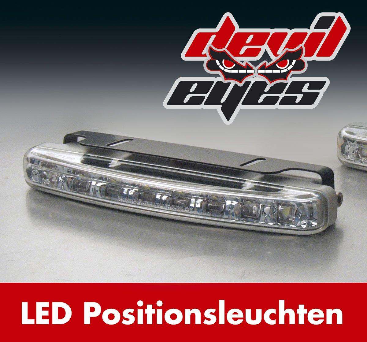 devil eyes 610762 LED Positionslicht eckig 2 X 8 LEDs