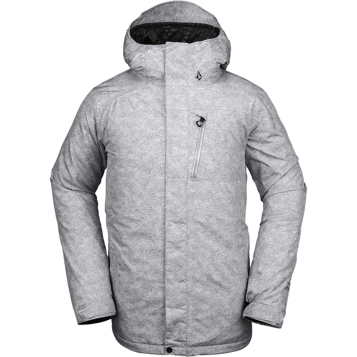 Volcom Men's L Insulated Gore-tex Breathable Snow Jacket, Heather Grey, Medium by Volcom
