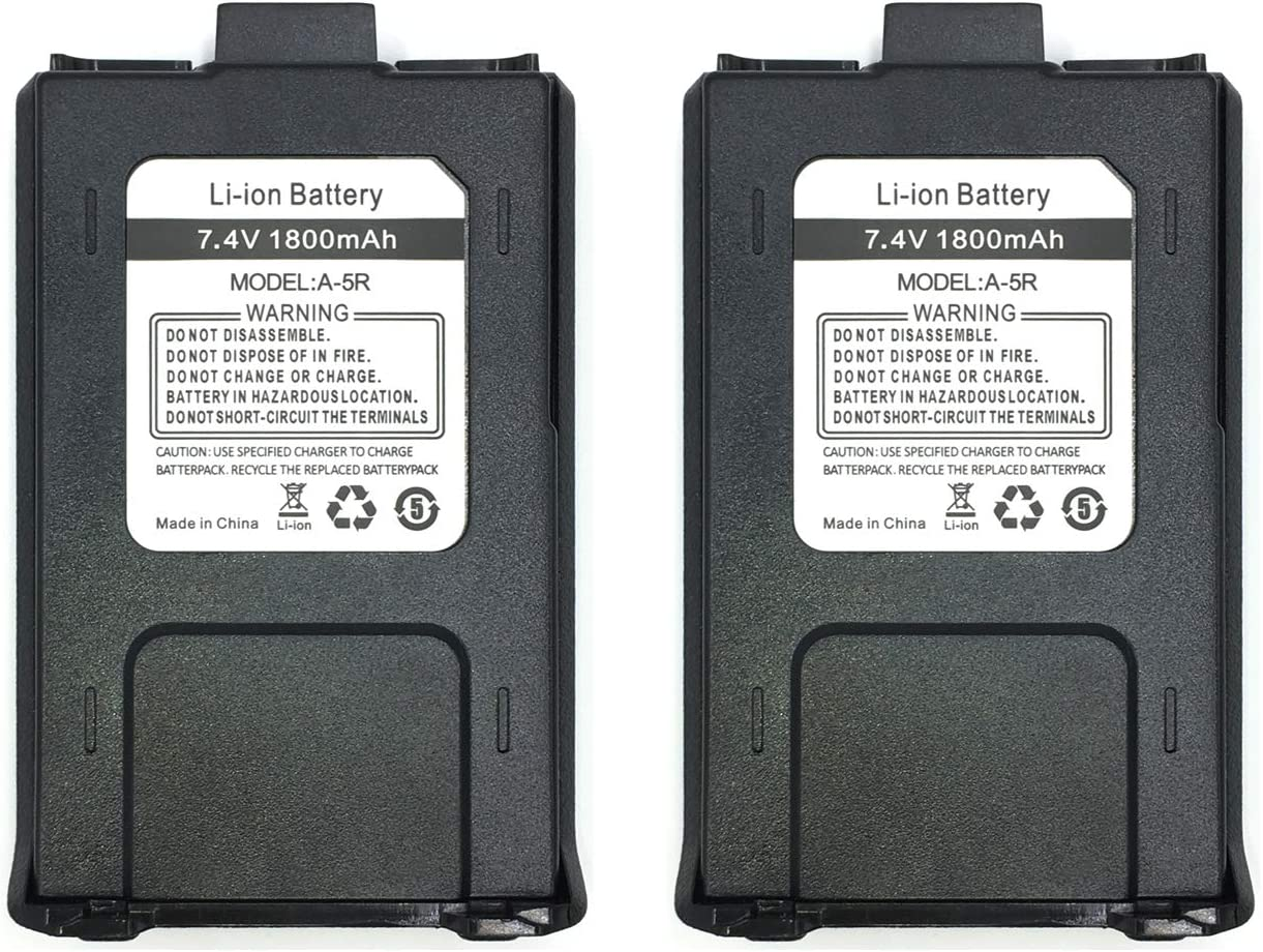 Battery Pack for Baofeng UV-5R Retevis RT-5R Ansoko A-5R Two-Way Radios 1 Pack