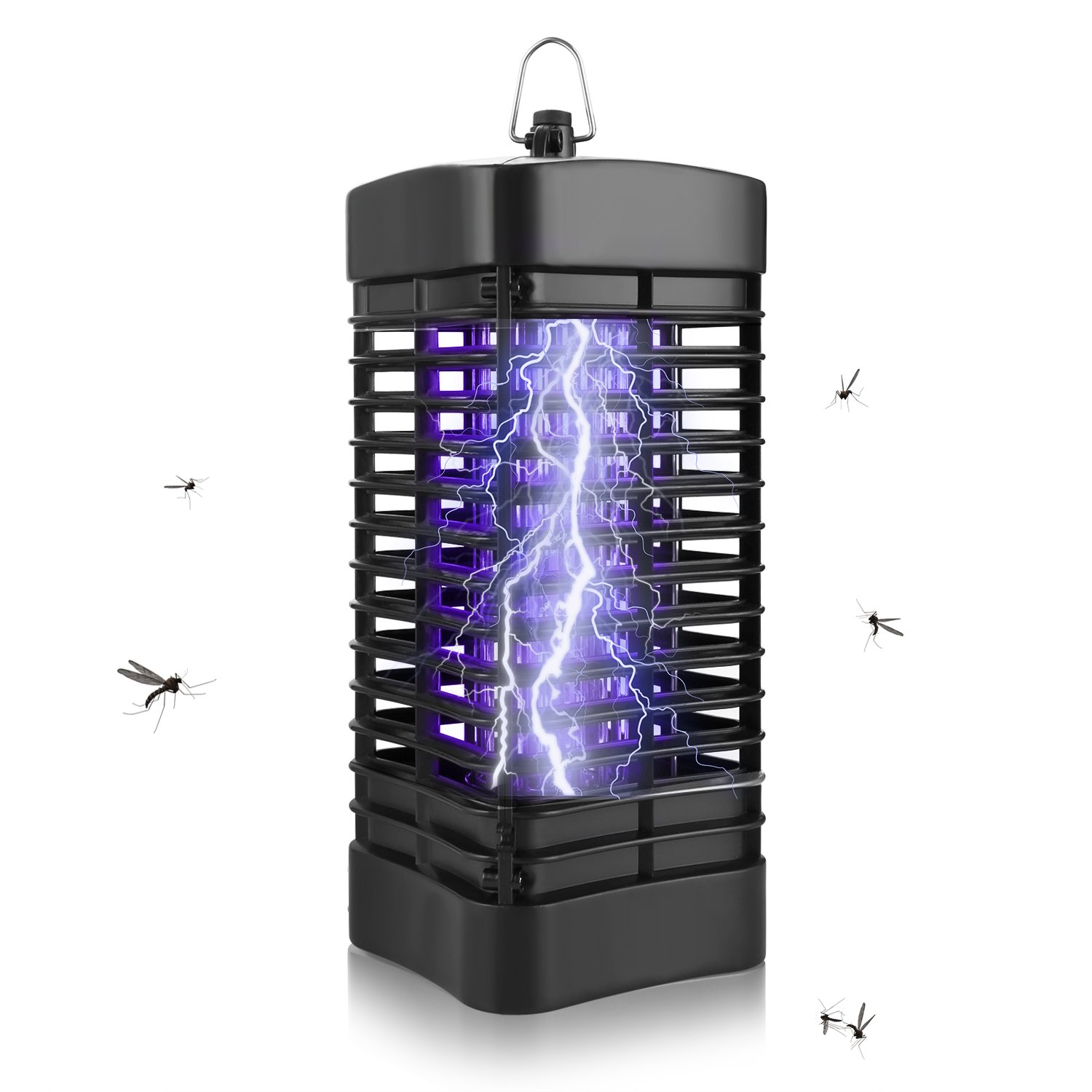 Bug Zapper Fly Trap Indoor Outdoor Electronic Mosquito Traps Insect Killer Trap Catcher for Mosquitos/Flie/ Other Insect, with Bright UV Light for Home Office Kitchen Patio Yard Restaurant