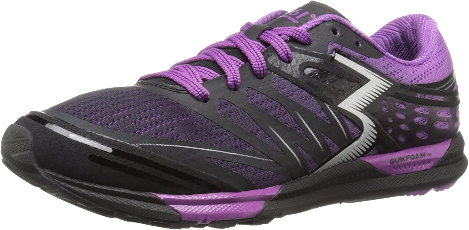 Image of 361° Women's 361-Bio-Speed Cross-Trainer Shoe, Black/Violet, 11 M US Fitness & Cross-Training