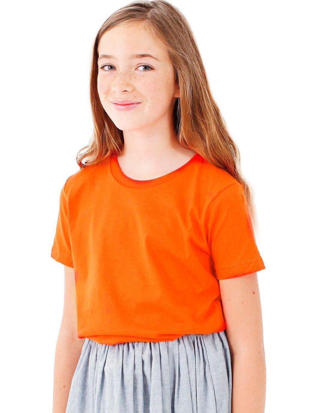 American Apparel Boys Fine Jersey Short-Sleeve T-Shirt (2201) -ORANGE -8