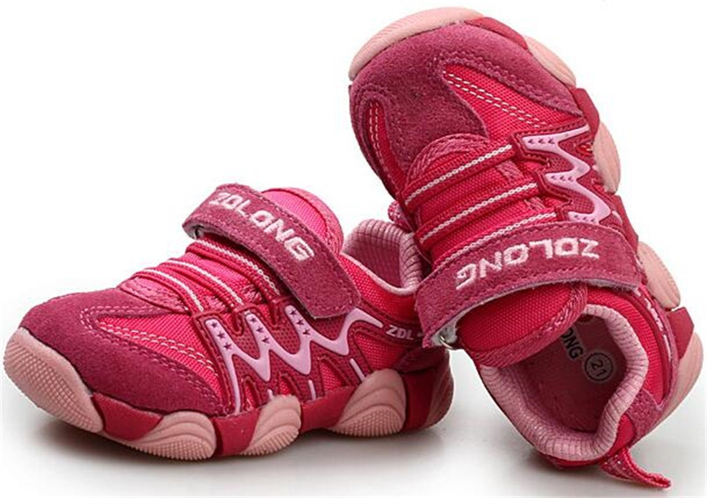 PPXID Boy's Girl's Athletic Lace up Casual Sneaker Running Shoes-Pink 11.5 US Size by PPXID (Image #3)