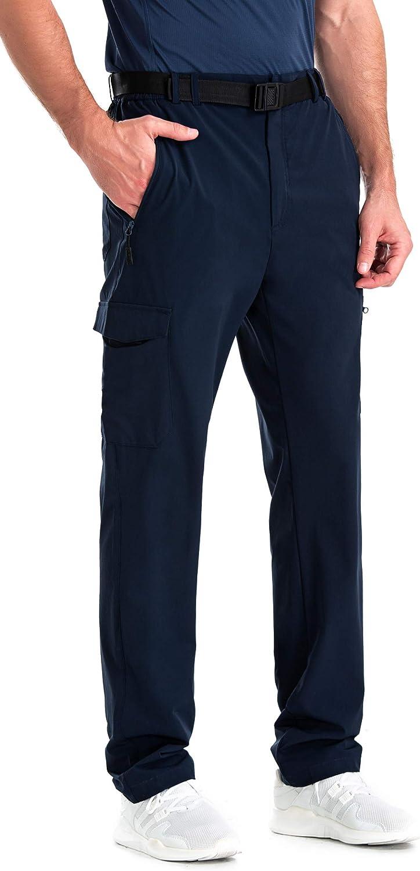 Chrisuno Mens Lightweight Sweatpant Elastic Waist Quick Dry Wrinkle-Free Breathable Pant