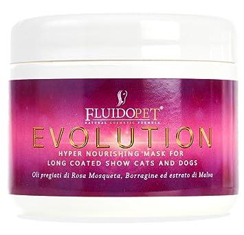 fluidopet Evolution Máscara Iper Nutriente, Hidratante, Revitalizador y rinforzante Alla Rosa Mosqueta y aceite