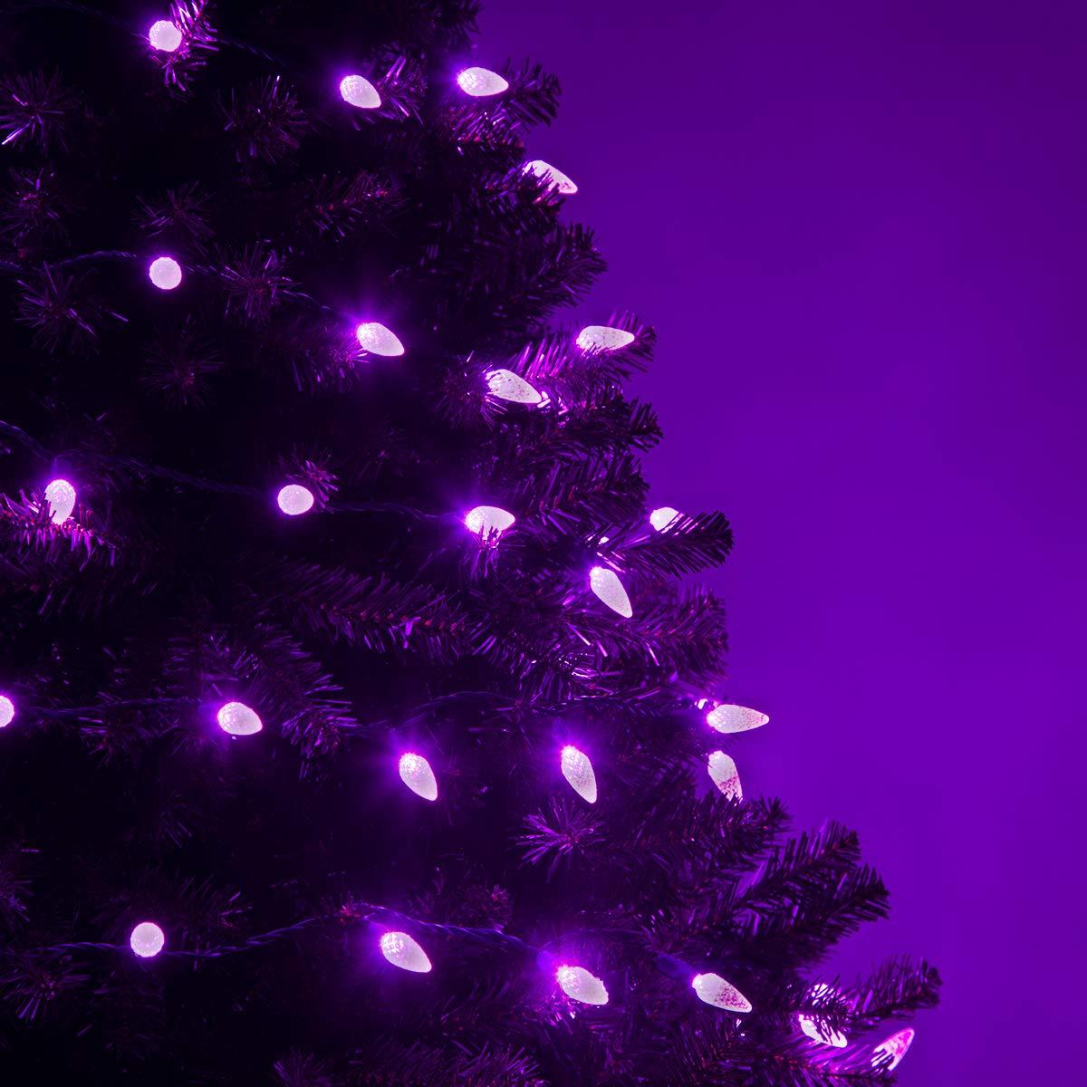 Purple Christmas Tree Lights.70 C6 Led Purple Lights Halloween Decorations Outdoor Christmas String Lights Halloween Lights Halloween String Lights For Bedroom