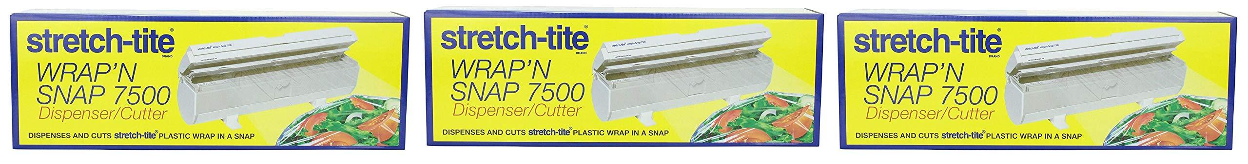 Polyvinyl Films Inc Stretch-tite Wrap'N Snap 7500 Dispenser (Тhree Pаck) by Polyvinyl Films Inc