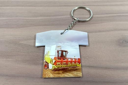 Schlüsselanhänger Traktor Schlepper Mähdrescher Trikot bedruckt