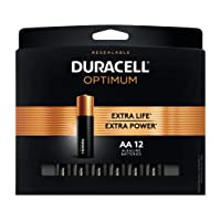 Deals on 12-Count Duracell Optimum 1.5V Alkaline AA Batteries