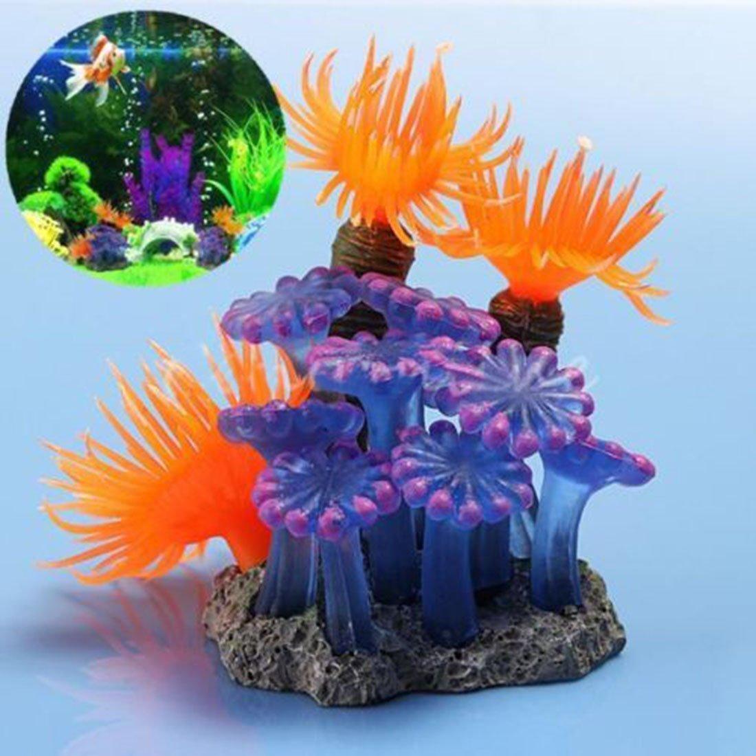 Luwu-Store Plante Artificiel Corail en résine Compatible pour Aquarium décor SHOMLU2836