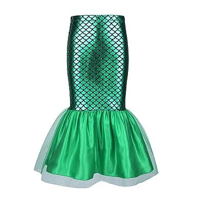 IEFIEL Falda de Sirena Princesa para Danza Disfraz de Sirena ...