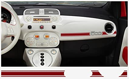 Fiat 500 Abarth Dashboard Decal 2 Pcs Red