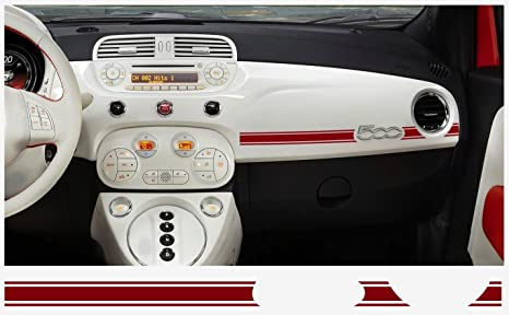 Amazon.com: Fiat 500 Abarth Dashboard Decal 2 Pcs. (Rojo ...
