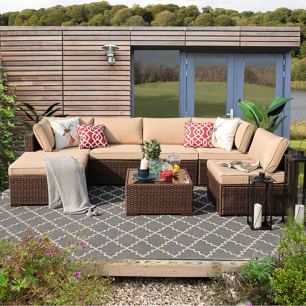 PATIORAMA Outdoor Furniture Sectional Sofa Set