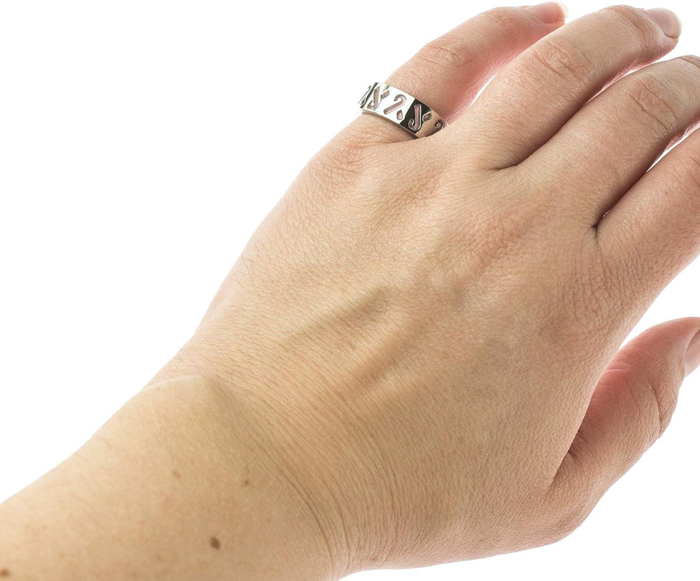 Joyful Sentiments Inspirational Jewelry Stainless Steel Pierced Pink Layered Ribbon Ring