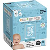 Hello Bello Baby Wipes, Fragrance Free, Hypoallergenic, 99%+ Water, Unscented Wipes, 600 count