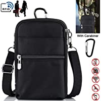 Lyeiaa Passport Bag, Waterproof Phone Pouch Bag for Women and Men RFID Bag for Passport, Credit Card, Money and Documents