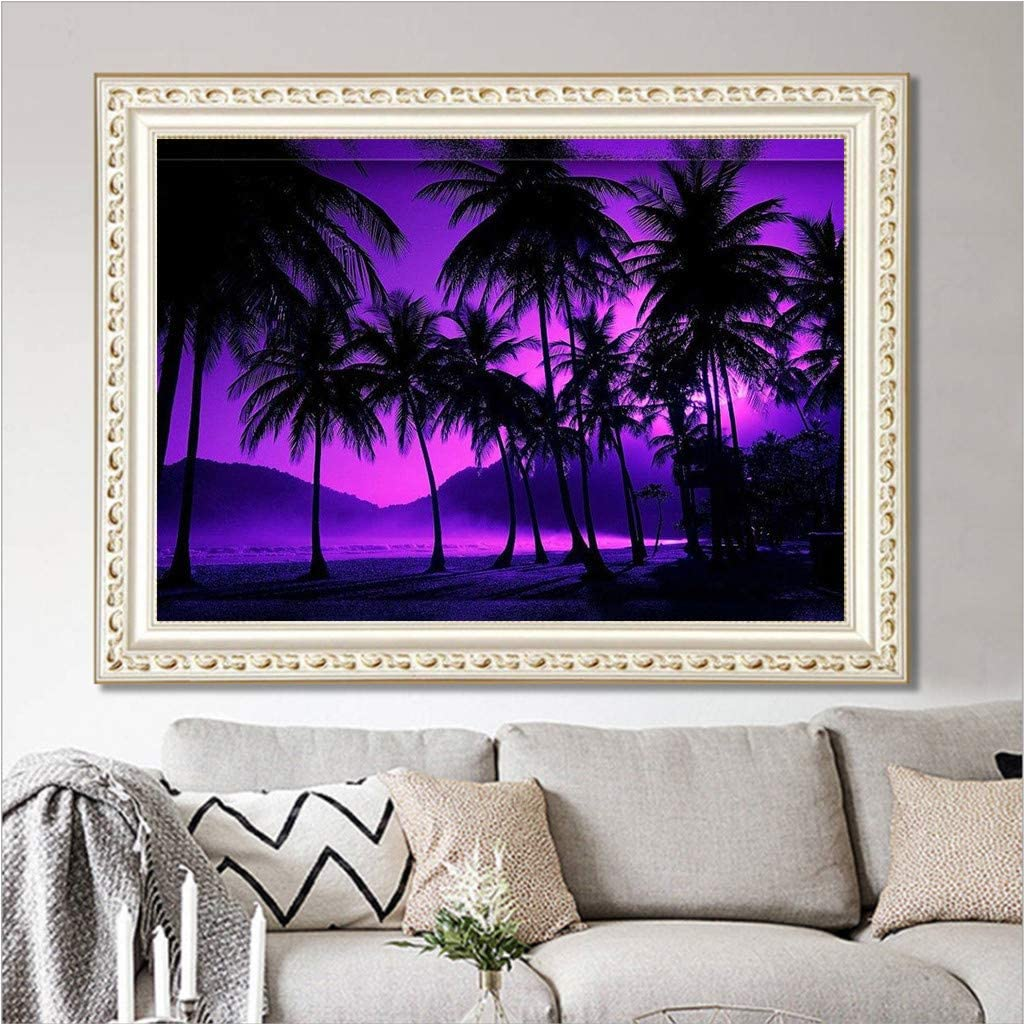 Sunset At Sea 12x16 Inch Art Craft Diamond Art Wall Stickers For Living Room Decoration Hstore Diy 5d Full Embroidery Drill Diamond Painting Kit Lithographs