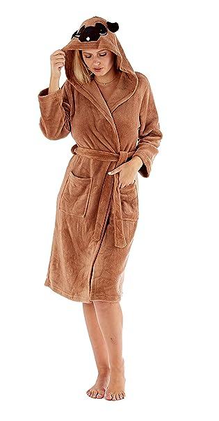 Mujer Animal Capucha Bata Cálido De Invierno Polar Cómodo Calcetines: Amazon.es: Ropa y accesorios