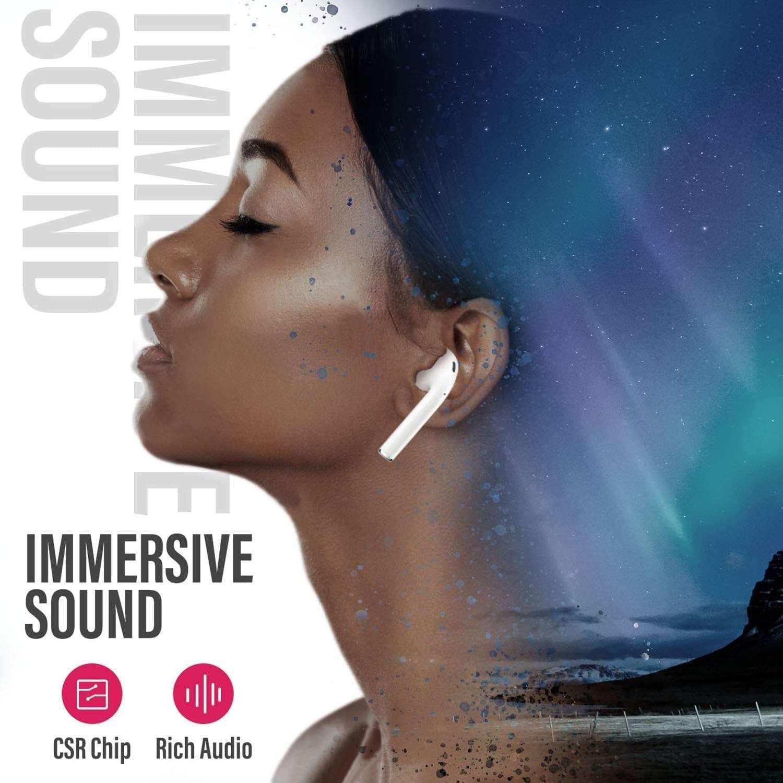 Ecouteur Bluetooth Battleaxe sans Fil Oreillette Bluetooth 5.0 Sport /Écouteurs Etanche IPX8 120H Playtime 3D Deep Bass Son St/ér/éo avec Micro Commande Tactile pour iOS /& Android