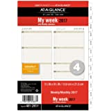 """Day Runner Weekly / Monthly Planner Refill 2017, 5-1/2 x 8-1/2"""", Size 4 (481-285Y)"""