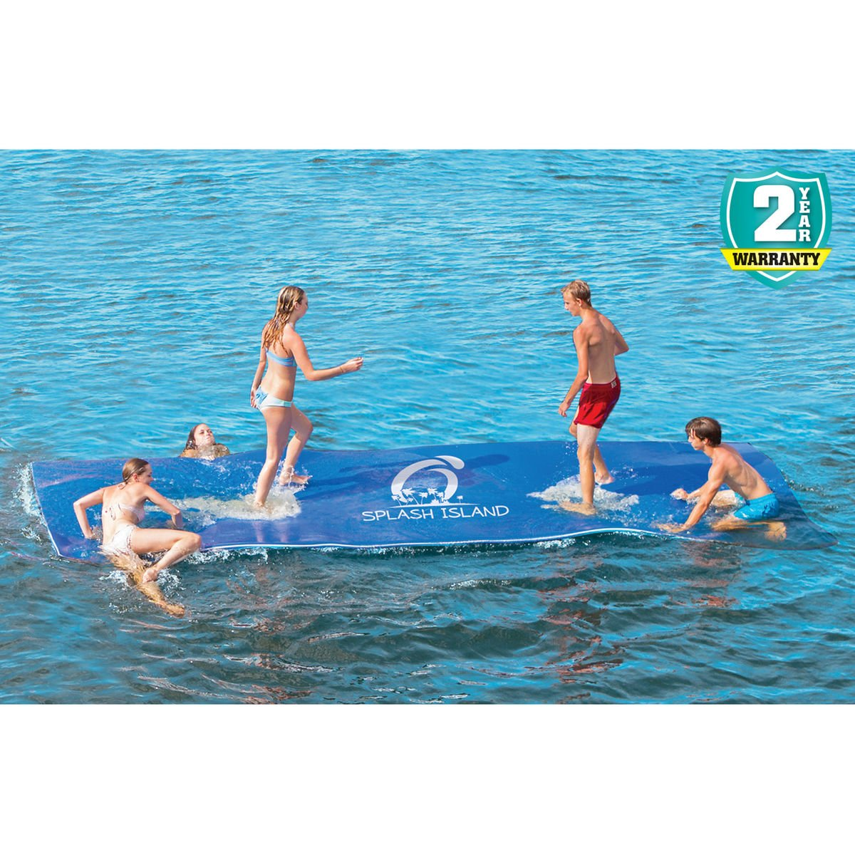 Experience the Best Summer Water Adventure with Overton's Splash Island, 18'L x 6'W by Overtons