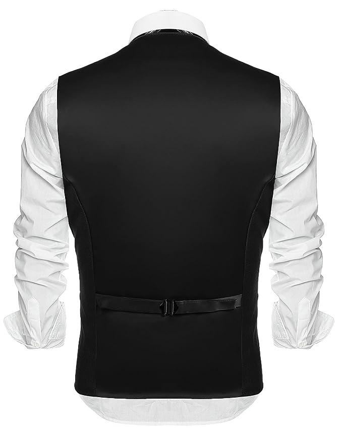 COOFANDY Mens Fashion Formal Slim Fit Business Dress Suit Vest Waistcoat