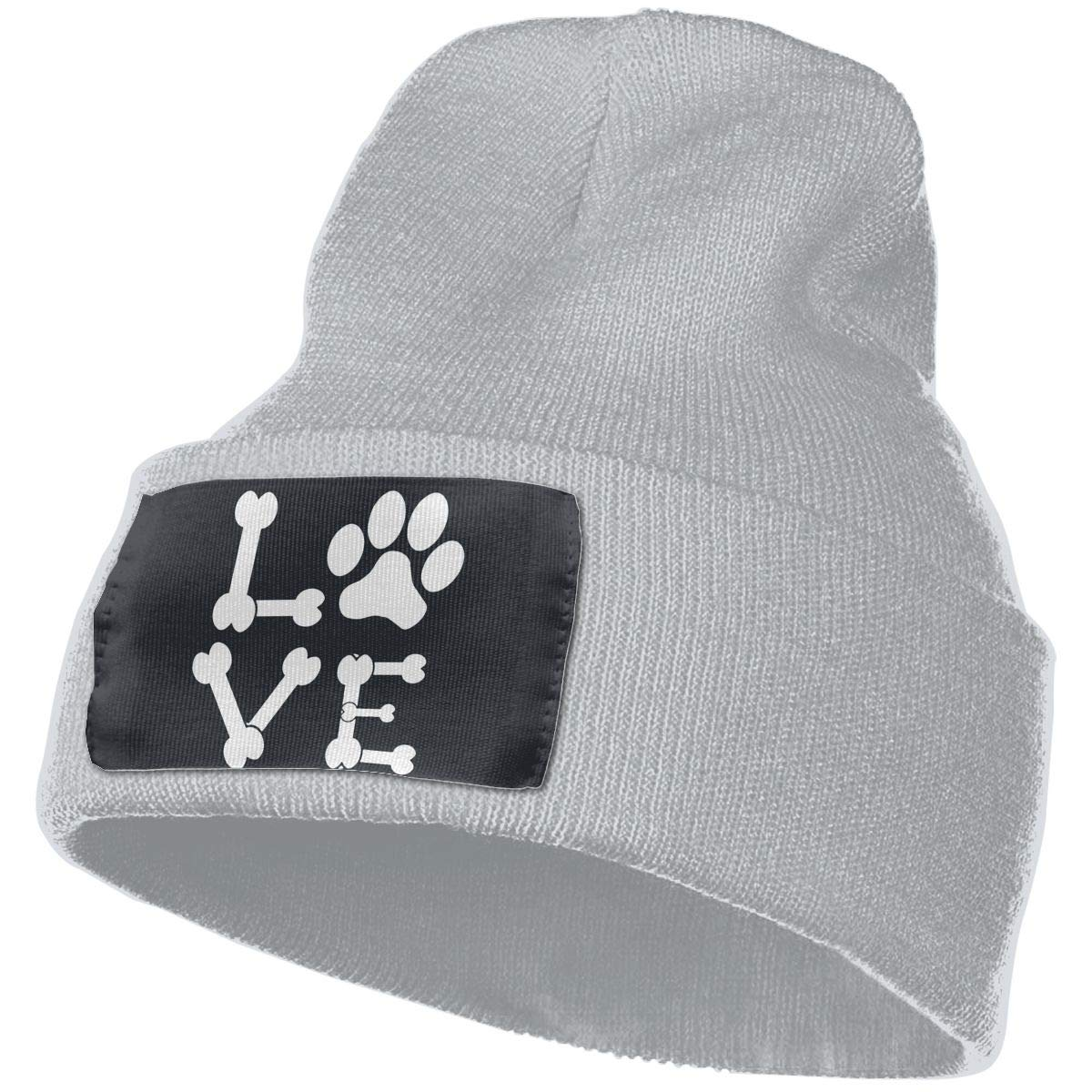 Pawprint Dog Bones Animal Lover Unisex Winter Fashion Snow Ski Hat