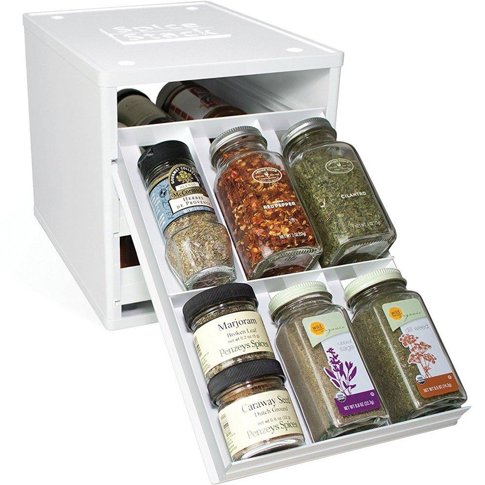 YouCopia Products Spice Stack - Contenitore porta spezie originale con 18 scomparti, colore: Bianco 02181-01-WHT