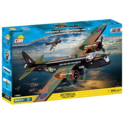 COBI Small Army - Historical Collection - Vickers Wellington Mk. 1C Plane Building Kit: Toys & Games