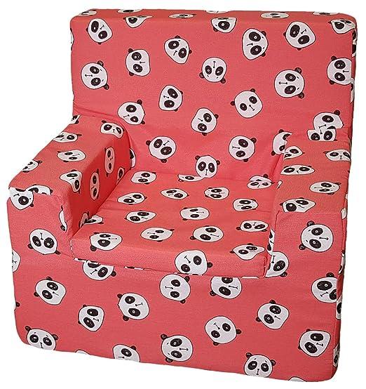 Jarrous Sillón Infantil, Modelo Panda, Color Rojo, Medida 44x46x35cm