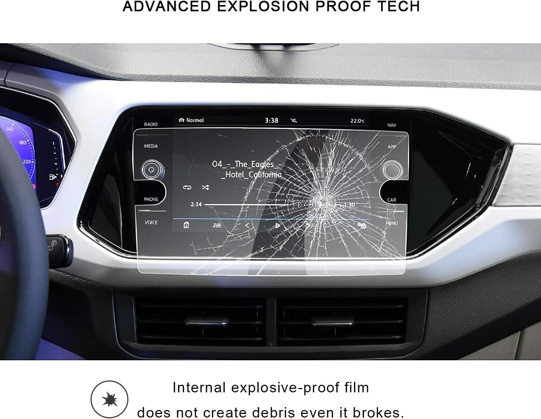 RUIYA Protector de Pantalla de Vidrio Templado para 2019 Volkswagen T‑Cross Sistema de navegaci/ón,Crystal Clear HD pel/ícula Protectora-8 Pulgadas