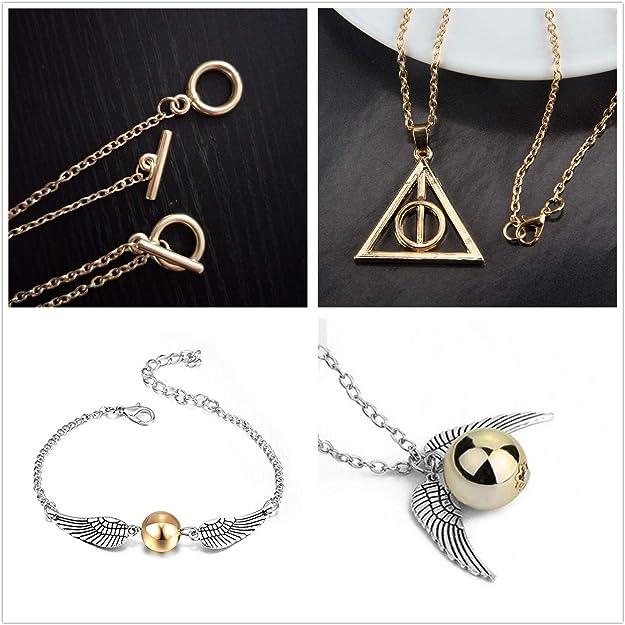 Ron Weasley Varita Collar-Harry Potter Colgante-Joyería-Color Plata Cadena