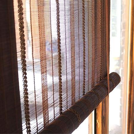 Persiana de bambú Persianas Enrollables Para Cortinas De Patio Con ...