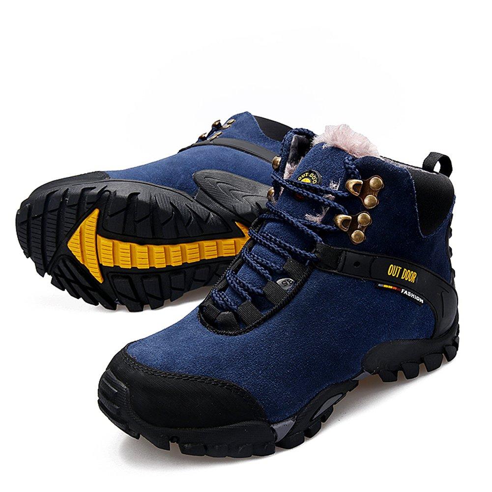 Bleu EU36 = longueur de pied appropriée 8.86   GOMNEAR Bottes de randonnée Homme Chaussures de randonnée Trekking Homme Bottines de Sport en Daim à Cheville en Daim
