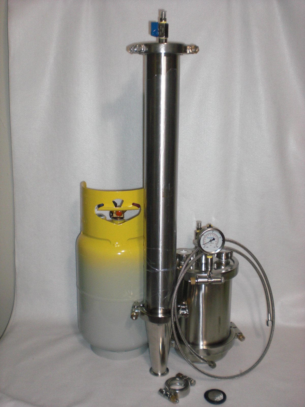 450 Gram Closed Loop System ,Reclamation Herbal Distiller, Passive / Active Closed Loop Extraction with Tank and Line