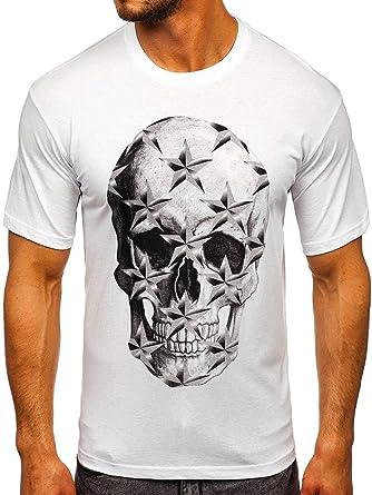 BOLF Hombre Camiseta de Manga Corta Escote Redondo Estampada Crew Neck Entrenamiento Deporte Estilo Diario J.Style SS11013 Verdeceladón M [3C3]: Amazon.es: Ropa y accesorios