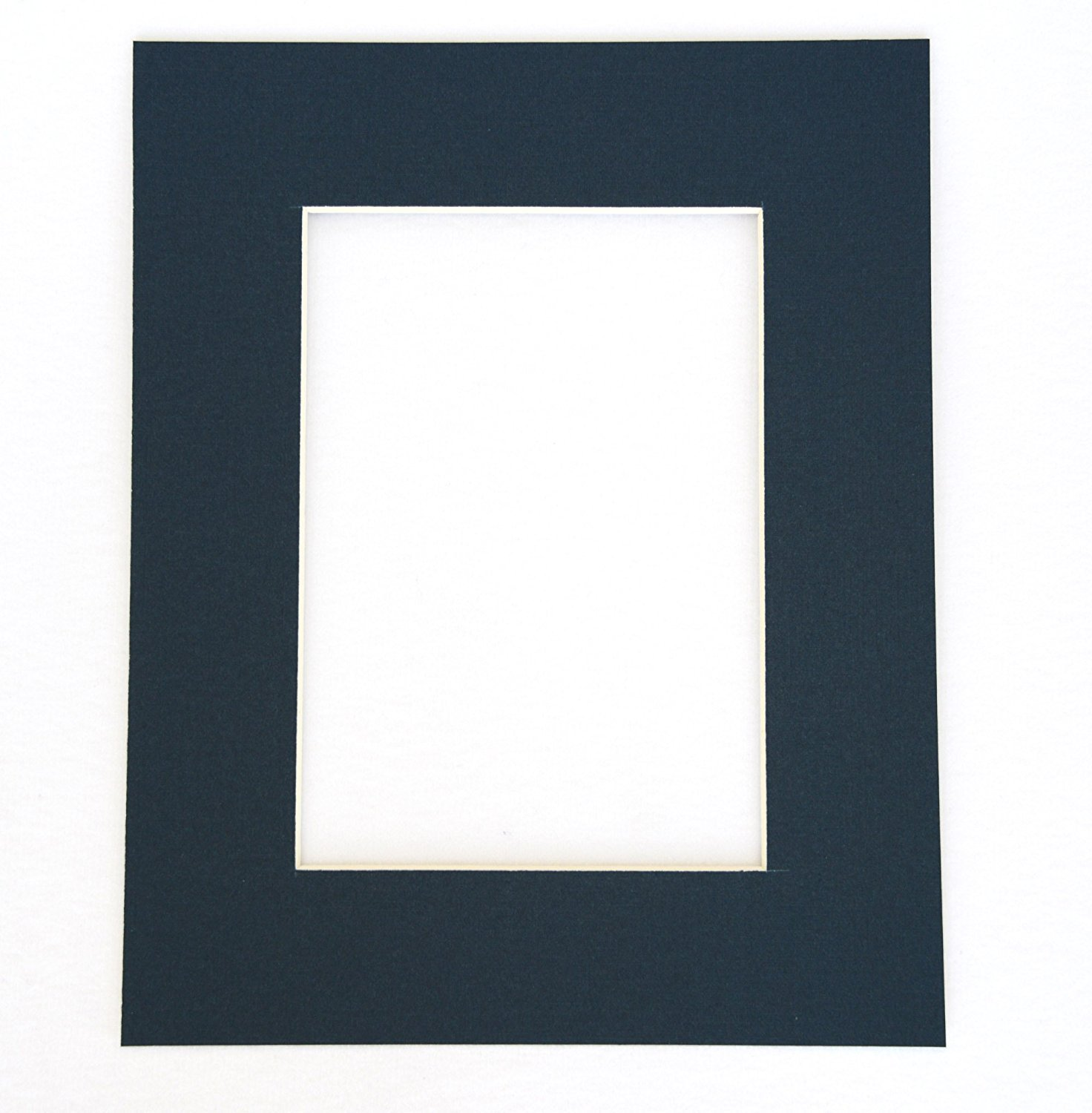 Pack of 10 NAVY BLUE 8x10 Picture Mats Matting with White Core Bevel Cut for 5x7 Pictures