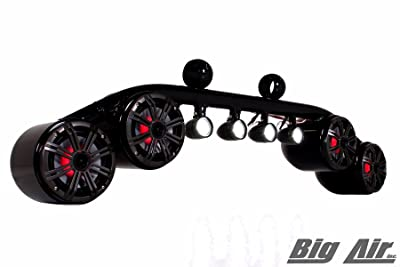 2-in-1 Marine Audio Speakers and  Spreader Lights Bar for Wakeboard Tower [Big Air] detail review
