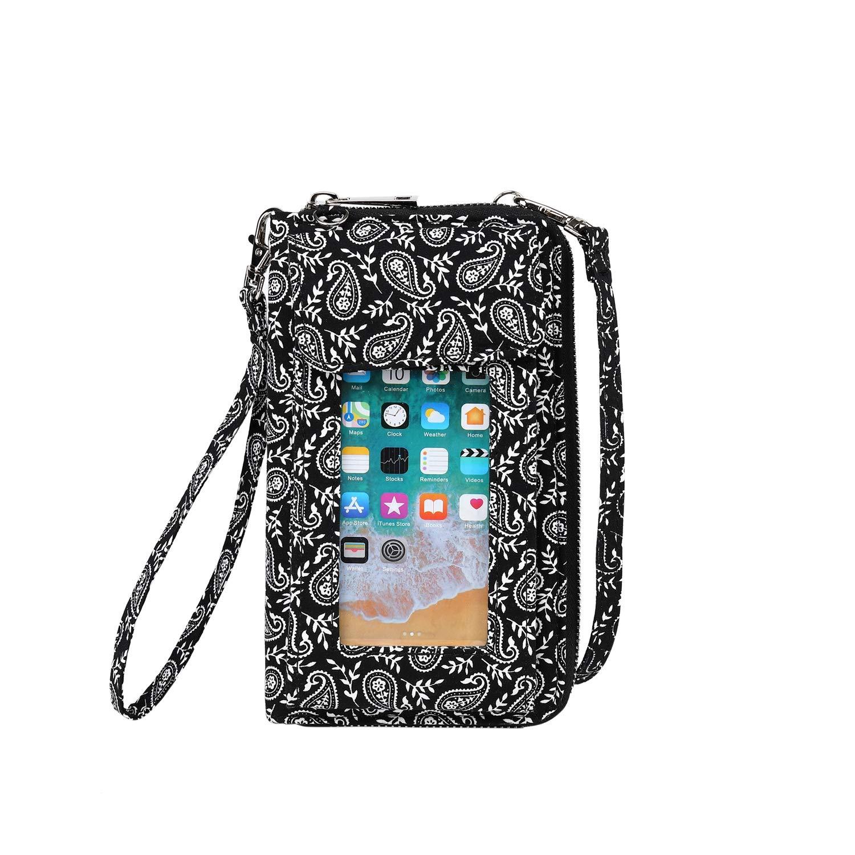 Lam Gallery Fashion Crossbody Phone Purse for Women Holder Wallet Clutch Cloth Wristlet Wallets Handbag