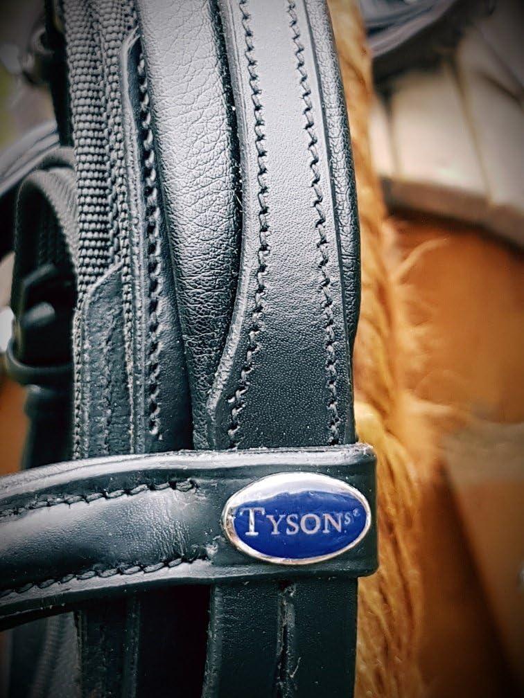 Stirn Schwarz Rot oder Silberfarben Tysons Gummiz/ügel Englisch Leder weich Trense Ergonomisch Mini Shetty Minishetty Minipony Glitzer Nase