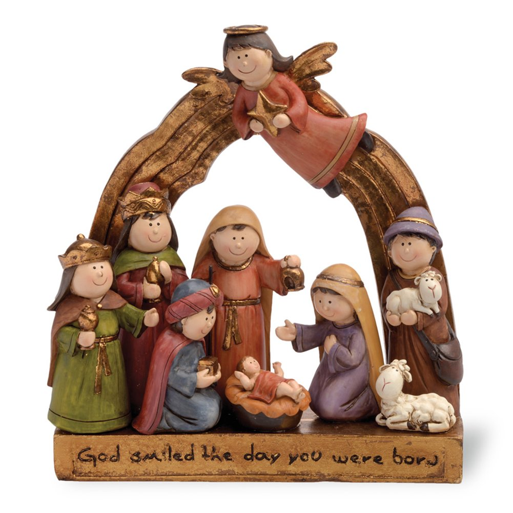 Boston International Whimsical Nativity Set, Small