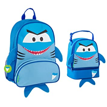 e956c009b9ed Stephen Joseph Boys Sidekick Shark Backpack and Lunch Pal Combo for Kids