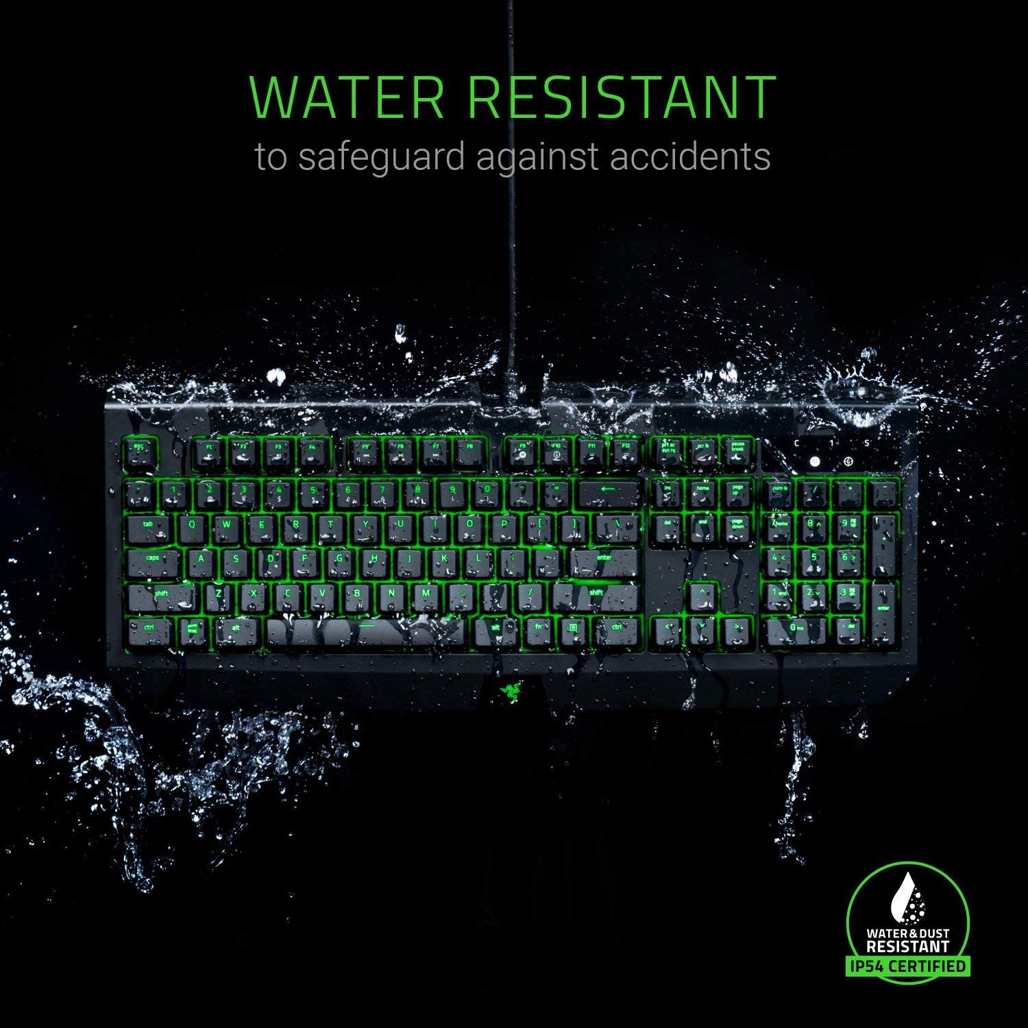 Individually Backlit Keys Dust and Spill Resistant Razer Green Mechanical Switches Tactile and Clicky Razer BlackWidow Ultimate: Esports Gaming Keyboard Renewed
